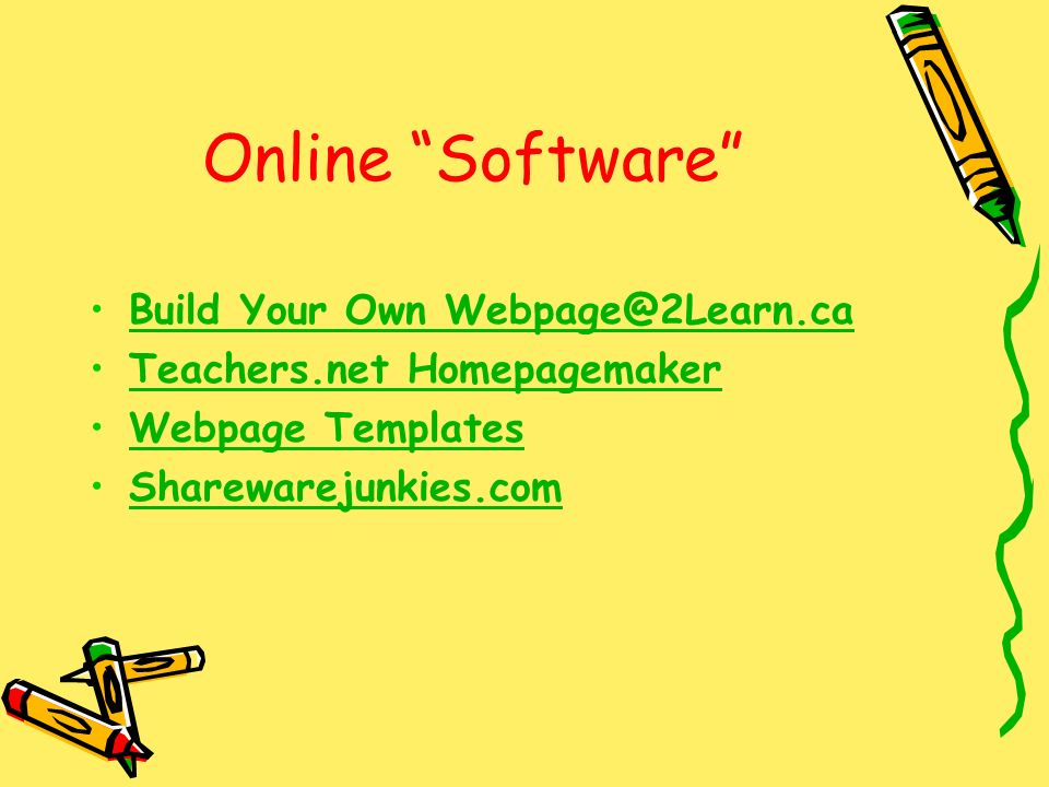 Online Software Build Your Own Teachers.net Homepagemaker Webpage Templates Sharewarejunkies.com