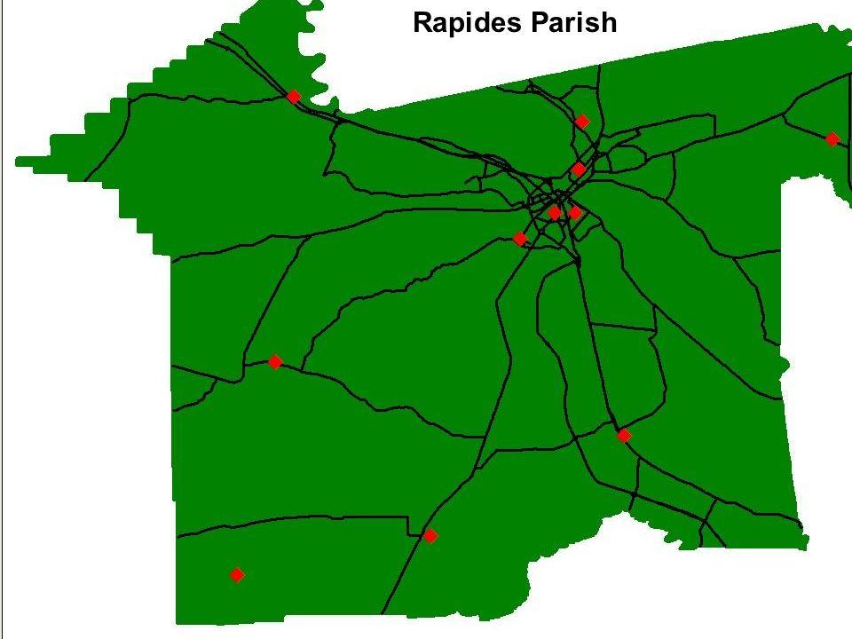 Map of Rapides Parish Rapides Parish