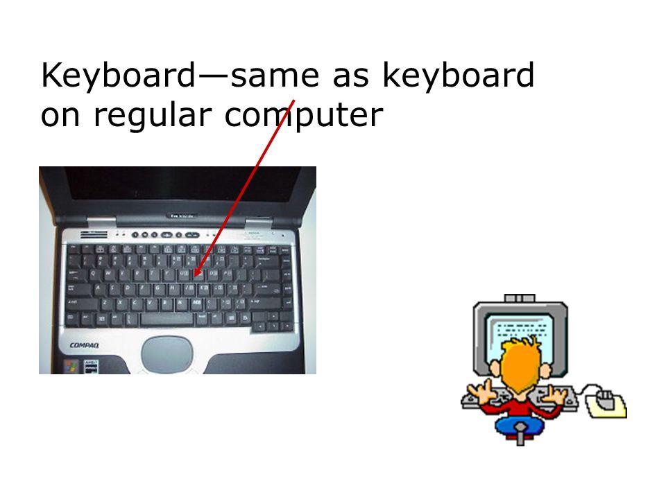 Keyboardsame as keyboard on regular computer