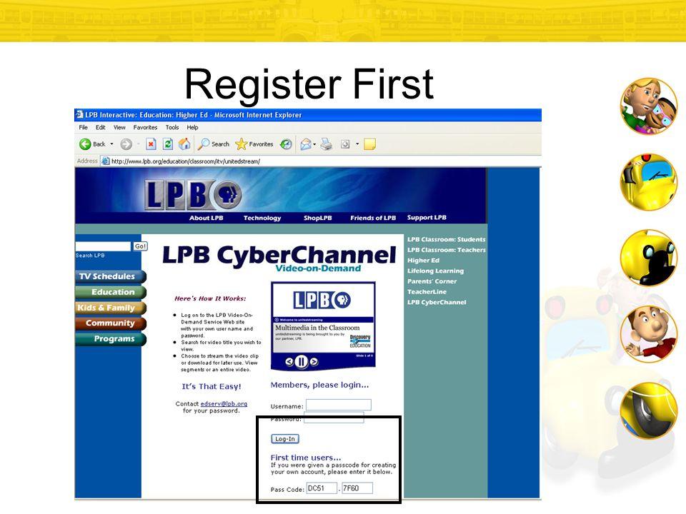 Register First