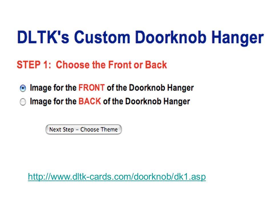 http://www.dltk-cards.com/doorknob/dk1.asp