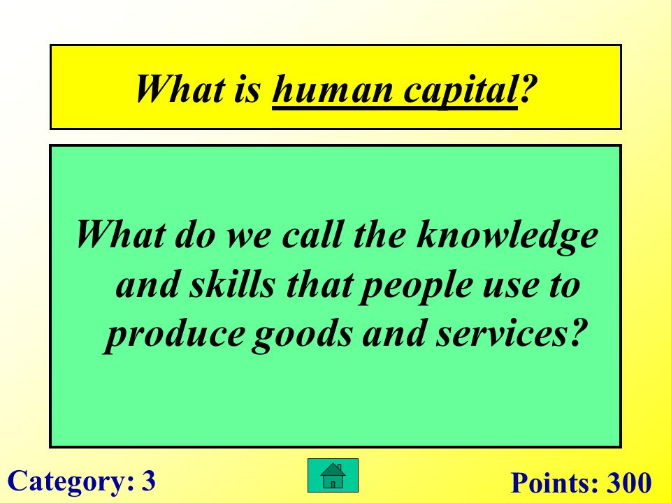 What is a capital resource.