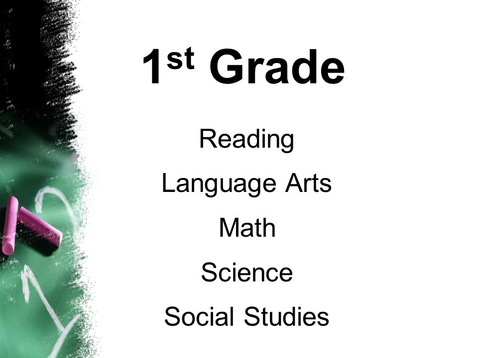1 st Grade Reading Language Arts Math Science Social Studies