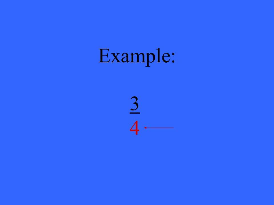 Example: 3434