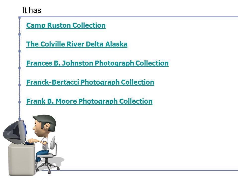 It has Camp Ruston Collection The Colville River Delta Alaska Frances B.