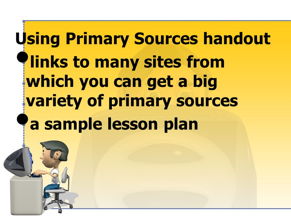 Using Primary Sources handout instructions for adding LA Digital Library content to PowerPoint with the plug-in LA Content Standards