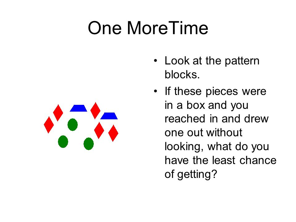 One MoreTime Look at the pattern blocks.