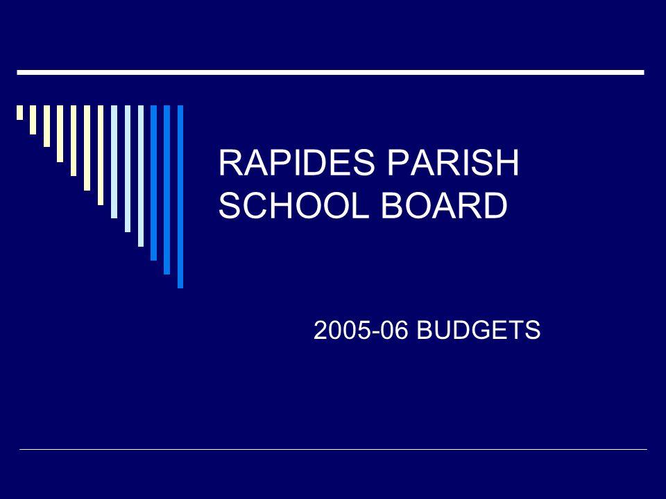 RAPIDES PARISH SCHOOL BOARD 2005-06 BUDGETS