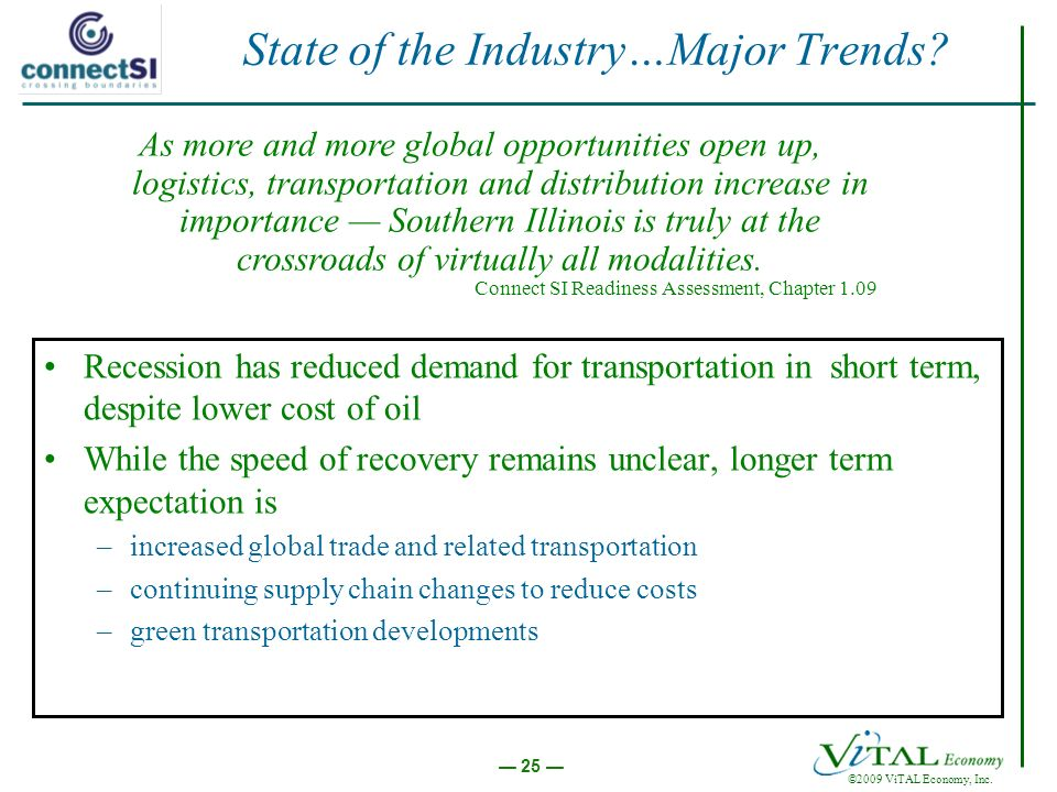 ©2009 ViTAL Economy, Inc. 25 State of the Industry…Major Trends.