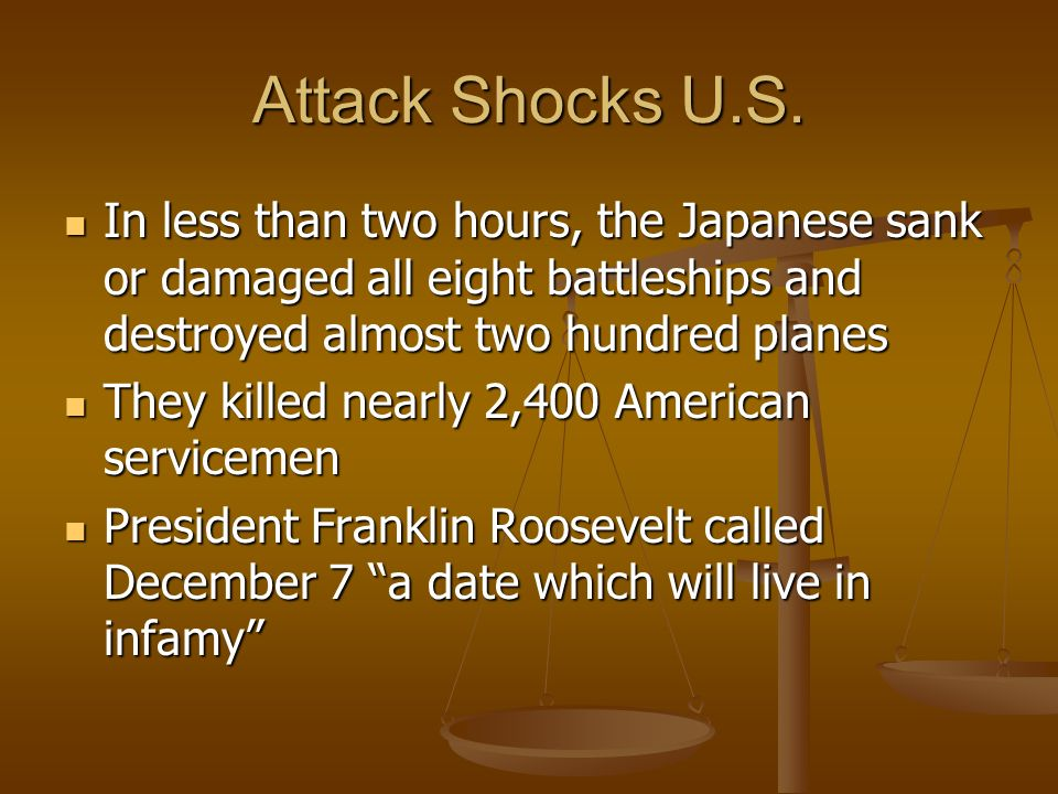 Attack Shocks U.S.
