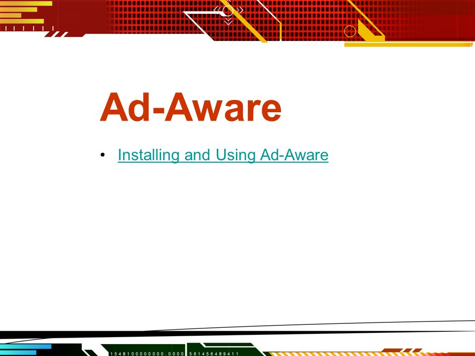 Ad-Aware Installing and Using Ad-Aware