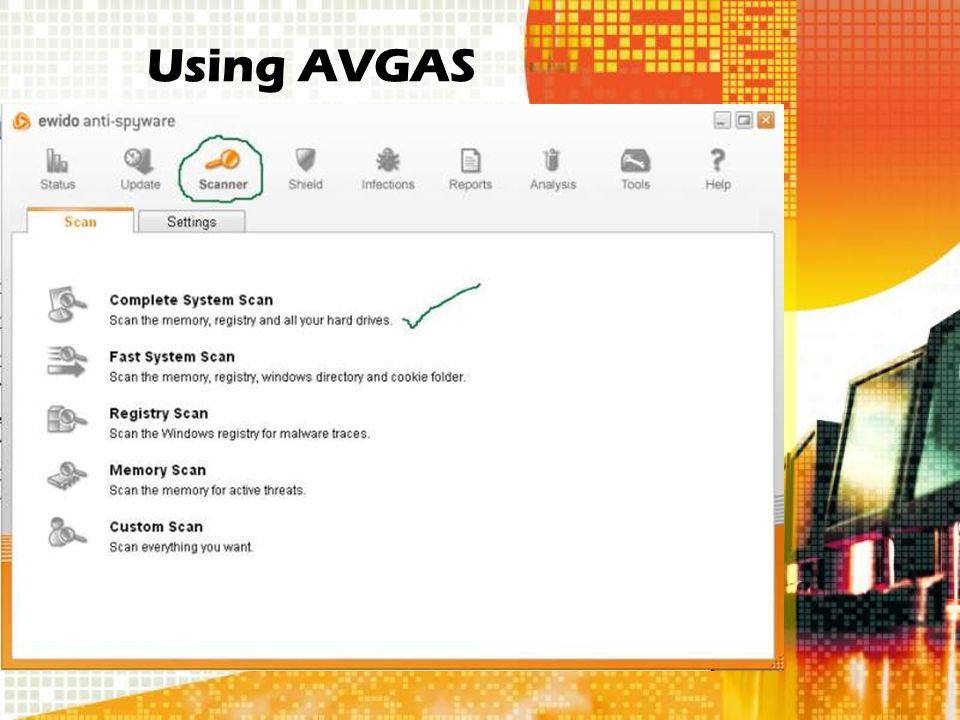 Using AVGAS