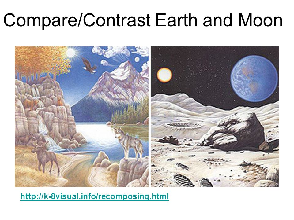Compare/Contrast Earth and Moon