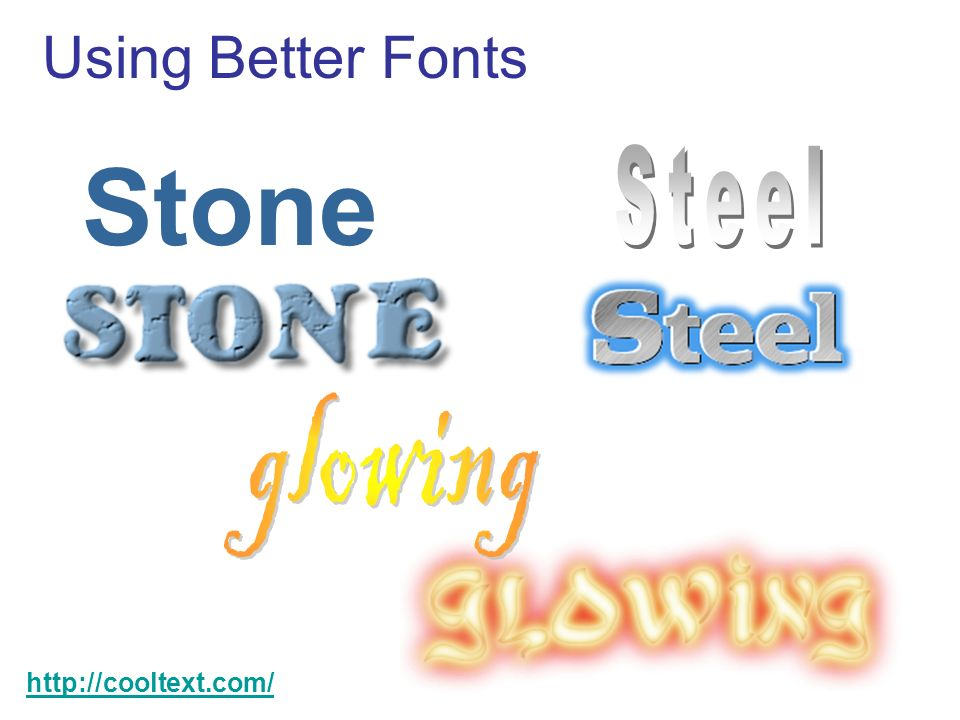 Using Better Fonts Stone