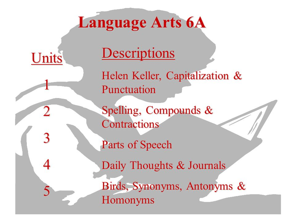 Reading 8B Units678910Descriptions Reading Skills Reading Skills & the Novel Critical Reading Myths Poetry & Short Stories