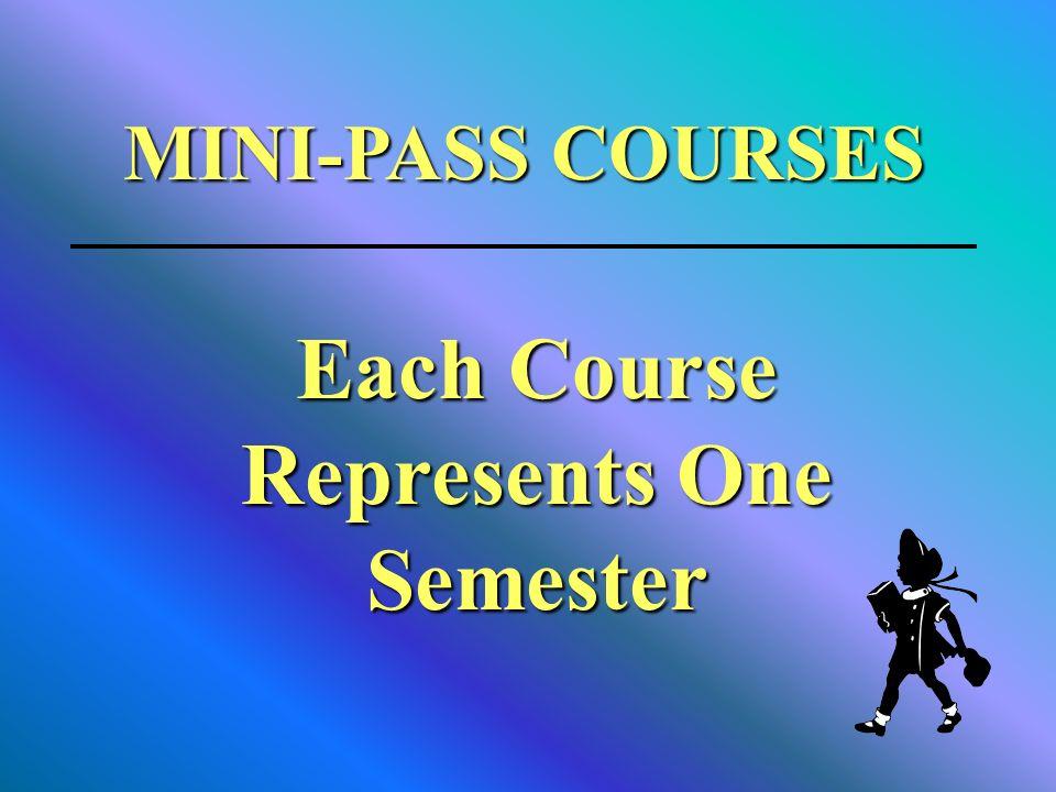 MINI-PASS COURSES Each Course Represents One Semester