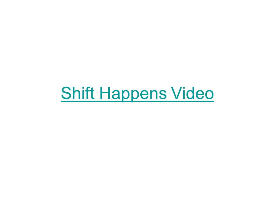 Shift Happens Video