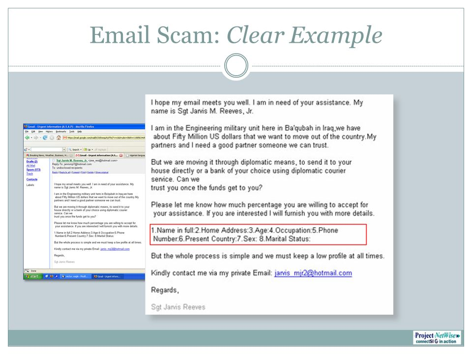 Email Scam: Clear Example