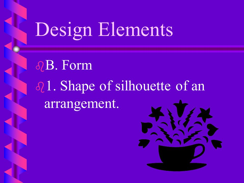 Design Elements b b 5. Lines should appear to originate from one point.