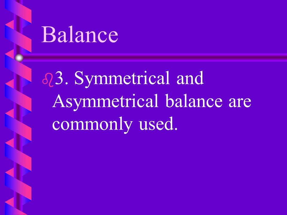 Balance F. If mechanical balance is not achieved, the arrangement may topple.