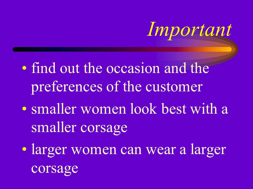Things to consider formality of the occasion size of the wearer color and style of the clothing to be worn