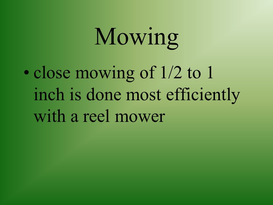 Mowing two types of mowers; reel rotary