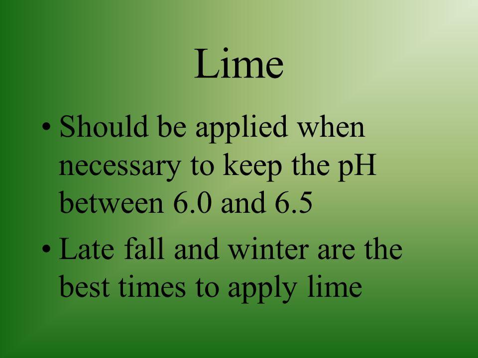 Applying lime sulfur fertilizer
