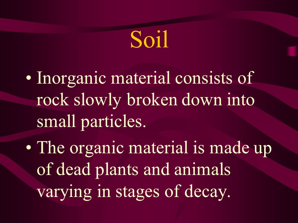 Organic Matter Purposes of organic matter: affects the soil structure by serving as a cementing agent, returns plant nutrients to soil (P, S, N), helps store soil moisture, makes soil more tillable for farming, provides food (energy) for soil microorganisms, which makes the soil capable of plant production