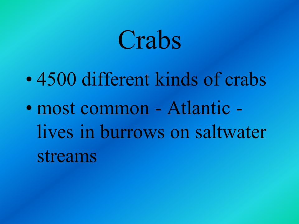 Crabs third economically important marine shellfish habitats range from shallow waters close to shore to deep waters of the ocean