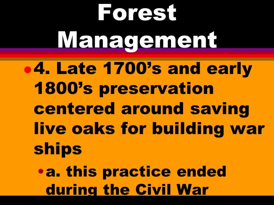 Forest Management l 2.