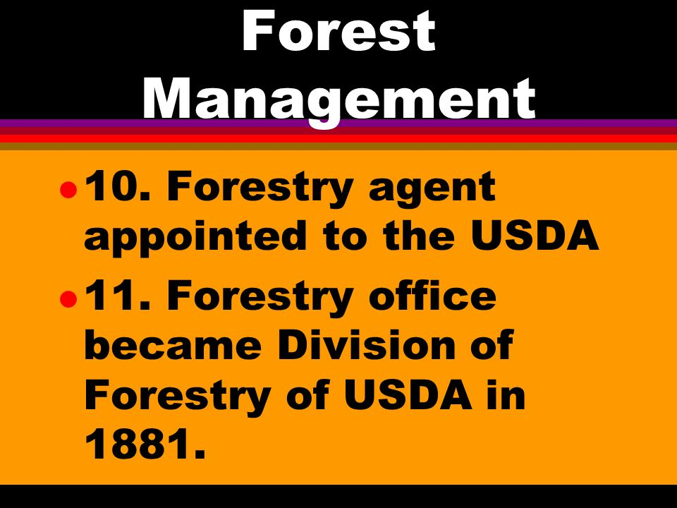 Forest Management l 9.