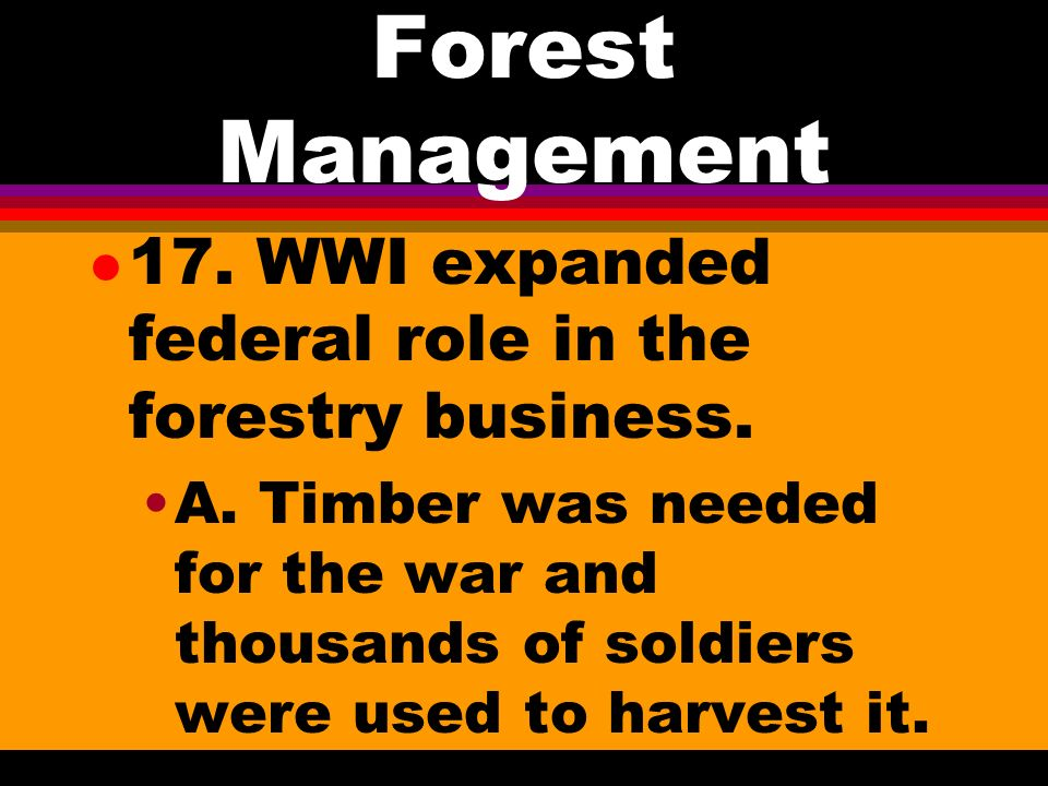 Forest Management a.