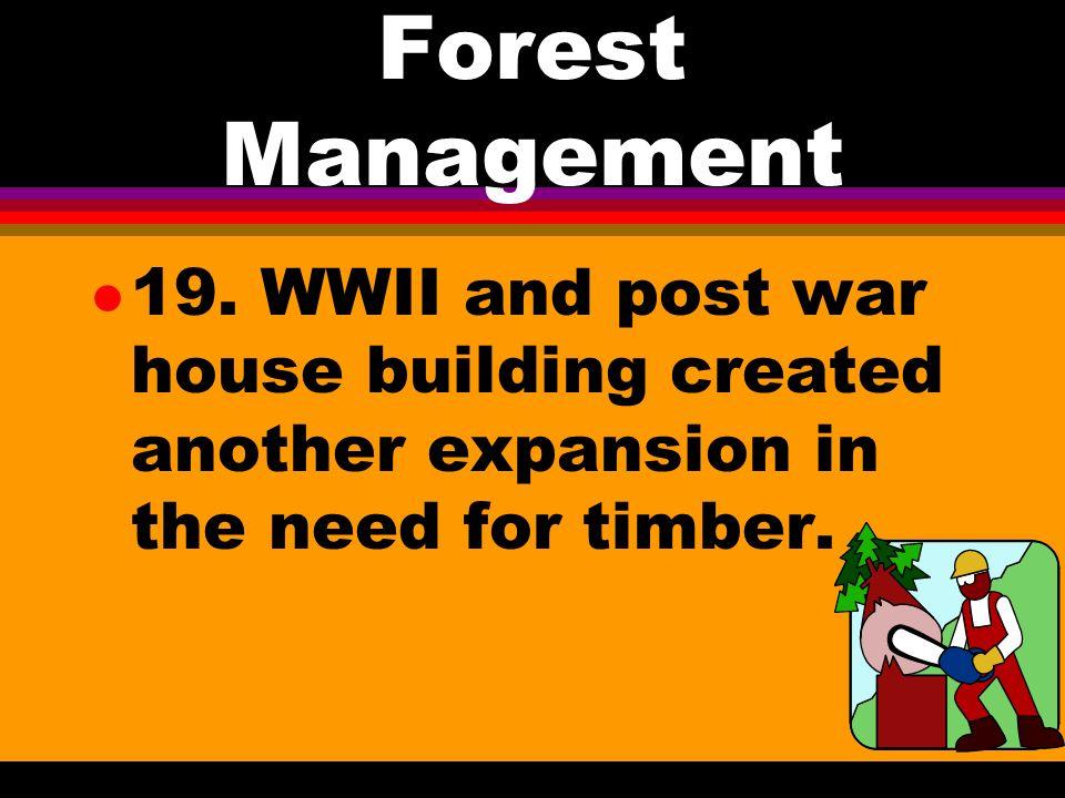 Forest Management l 18.