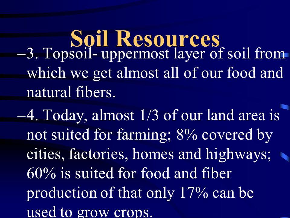 Soil Resources –3.