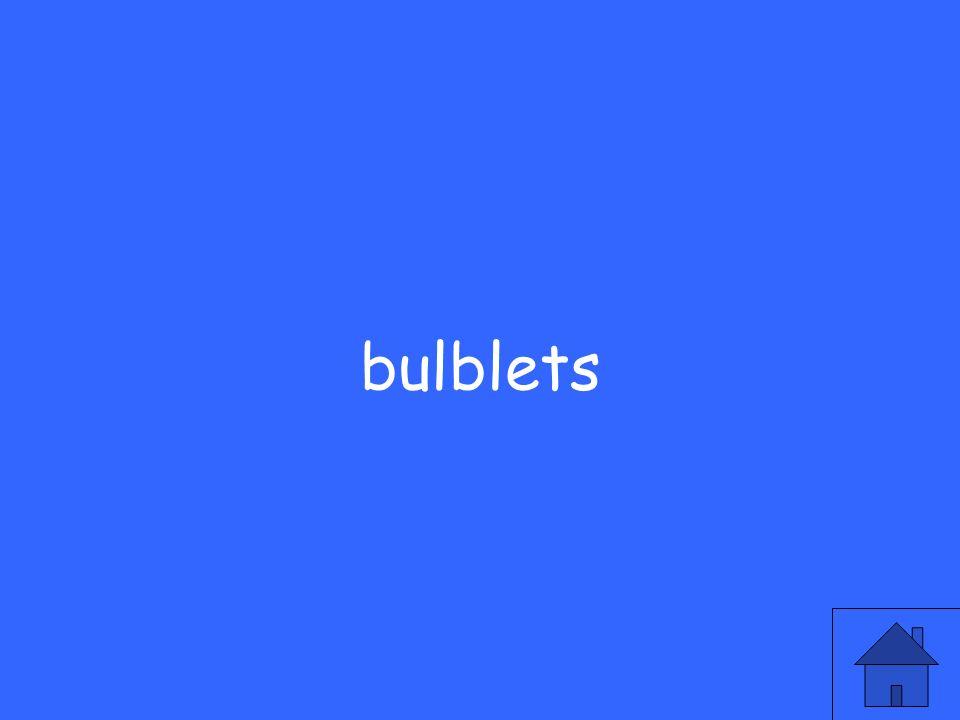 bulblets