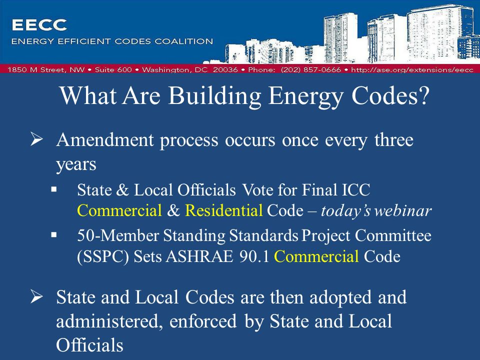 What Are Building Energy Codes.