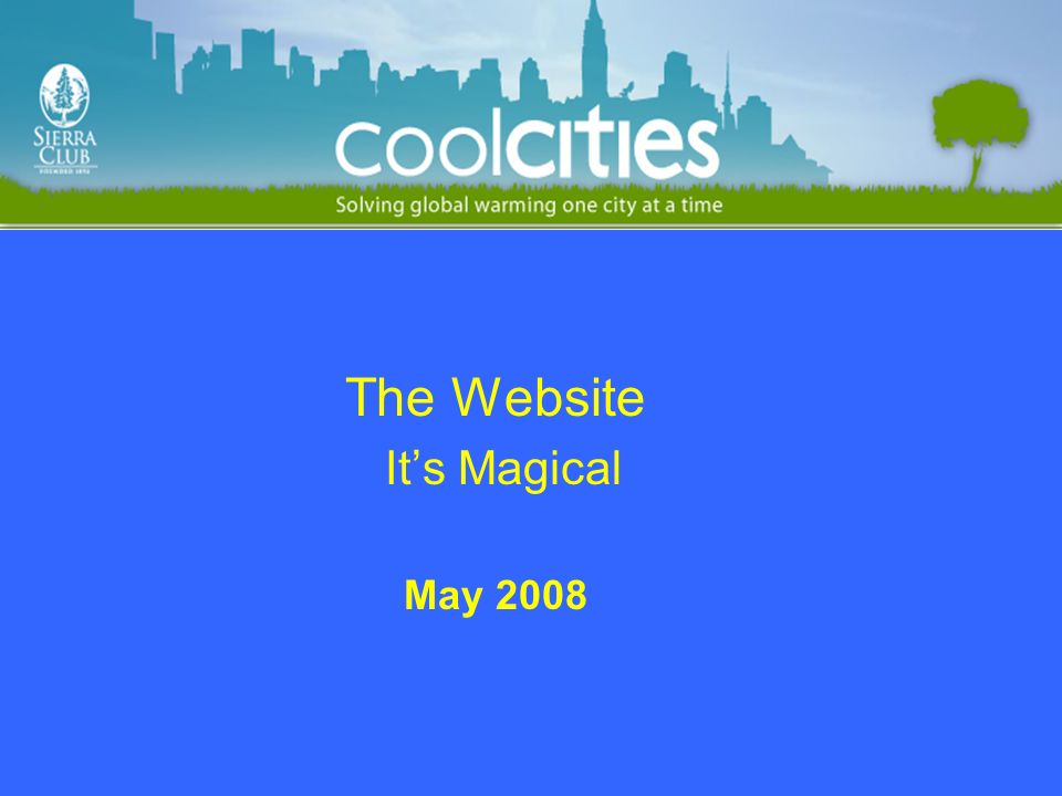 The Website Its Magical May 2008