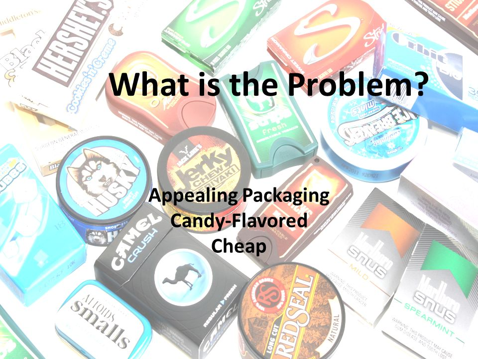 What is the Problem Appealing Packaging Candy-Flavored Cheap