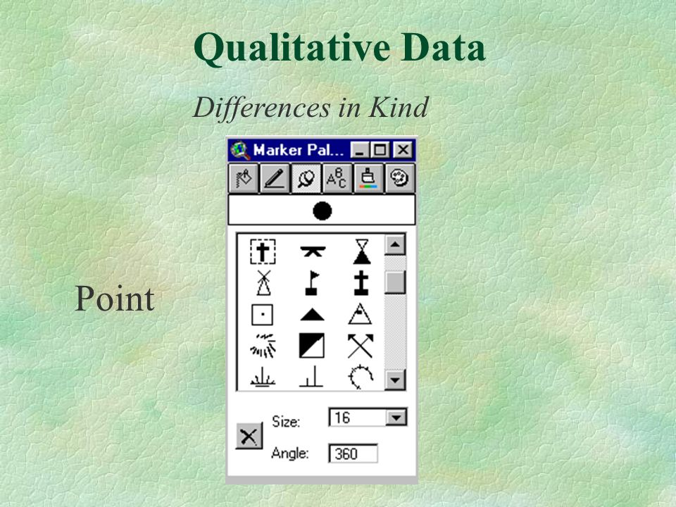 Point Differences in Kind Qualitative Data