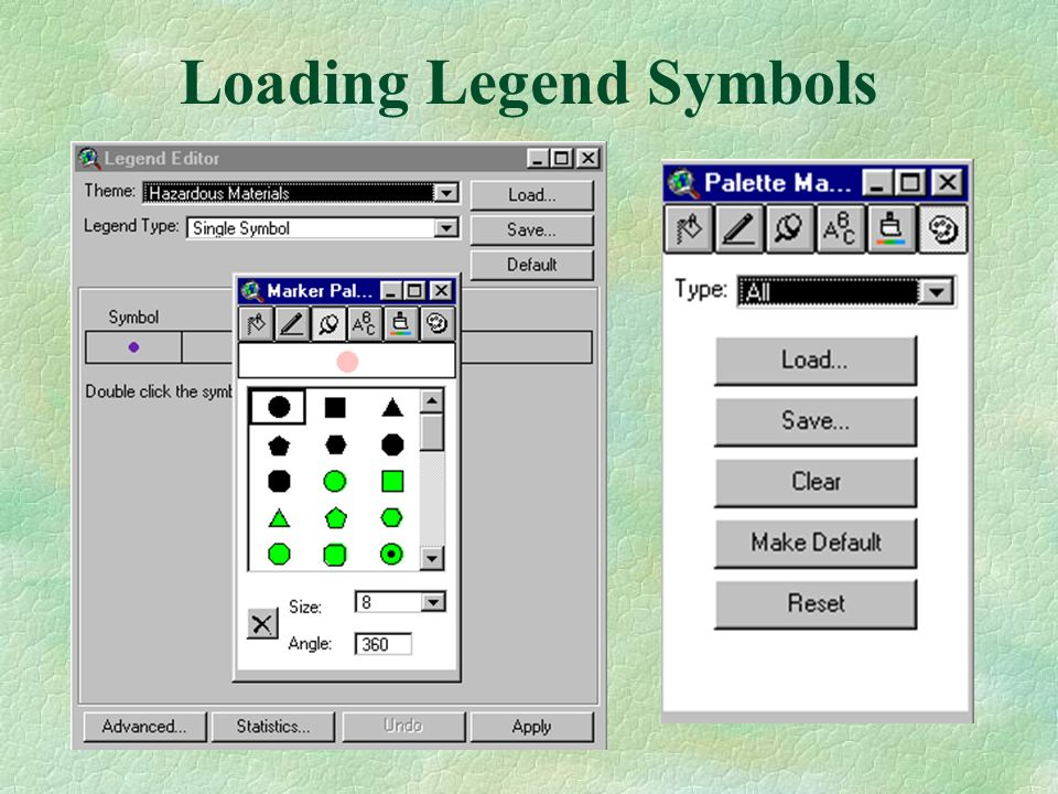 Loading Legend Symbols
