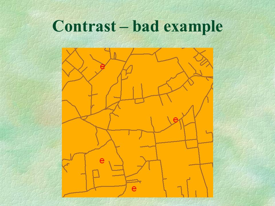 Contrast – bad example