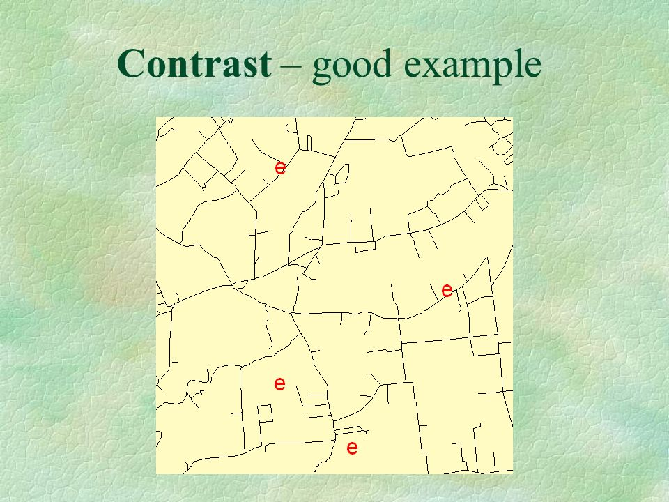 Contrast – good example