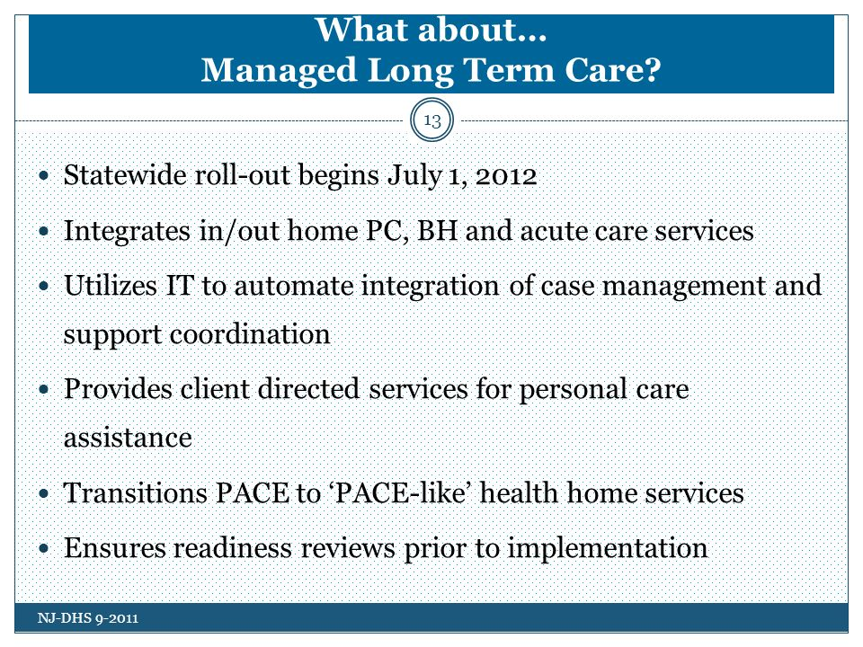 What about… Managed Long Term Care.