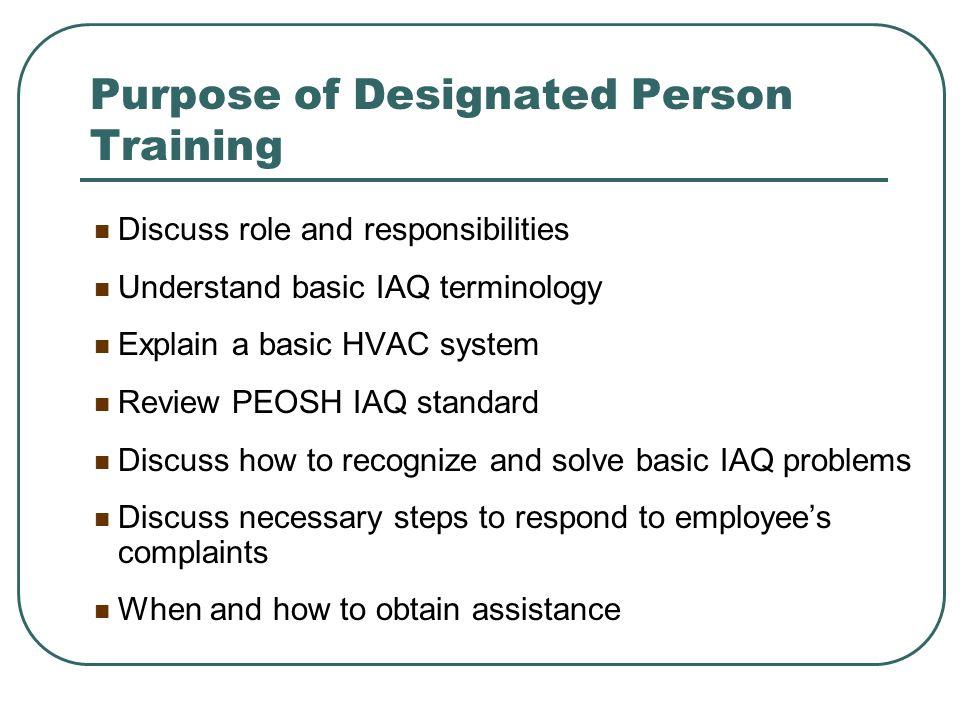 PEOSH IAQ Standard N.J.A.C.12:100-13 et seq. Adopted in 1998 First IAQ Standard in U.S.