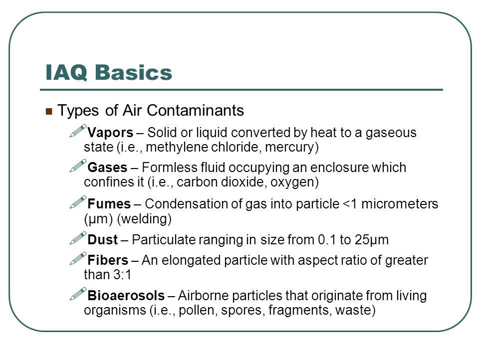 IAQ Preventive Maintenance (PM) Equipment List Master Schedule Documentation