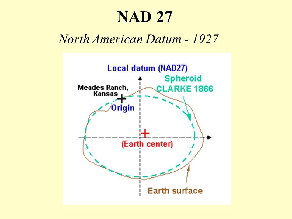 NAD 27 North American Datum - 1927