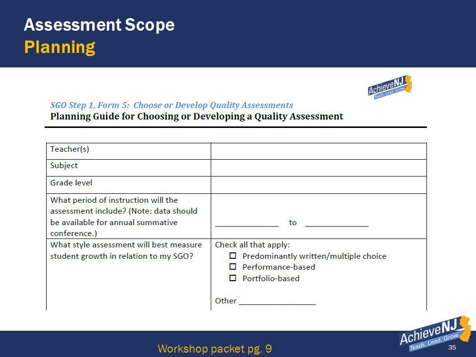 35 Assessment Scope Planning Workshop packet pg. 9