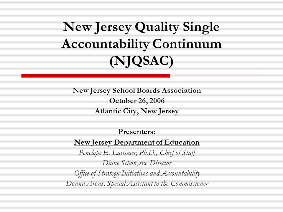12 Quality Indicators of NJQSAC Fiscal Management will focus on: Budget planning Financial and budgetary control Annual audit Treatment of restricted revenue Efficiency