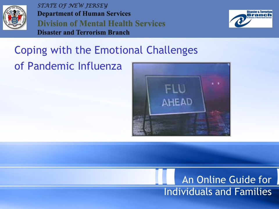 Coping with the Emotional Challenges of Pandemic Influenza An Online Guide for Individuals and Families
