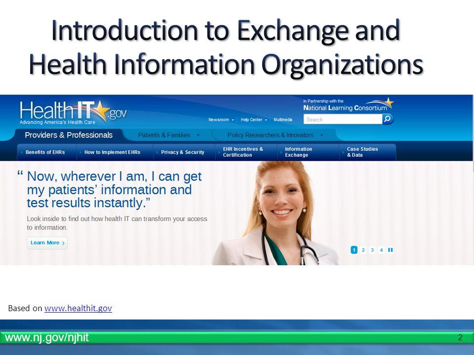 2 Based on www.healthit.govwww.healthit.gov www.nj.gov/njhit